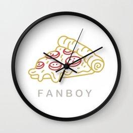 Fanboy - gold Wall Clock