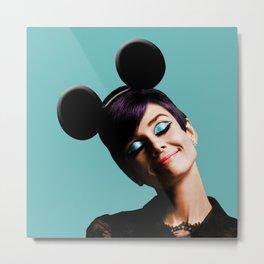 Audrey mouse pop art Metal Print