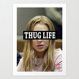"""Lindsay Lohan """"Thug Life"""" **Signed** Art Print"""