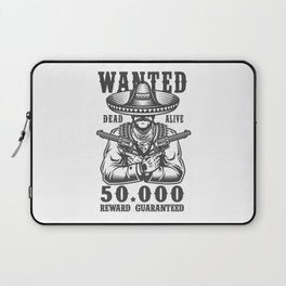 Wanted Dead or Alive Laptop Sleeve