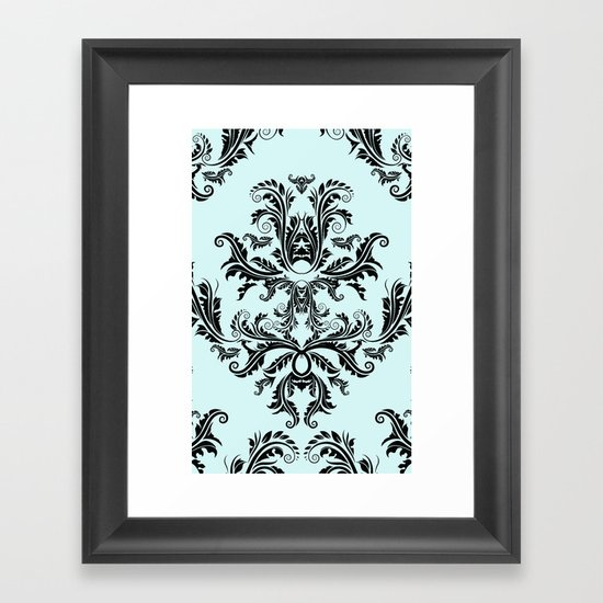 Damask Pattern Framed Art Print