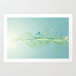 Dandelion Breeze Art Print