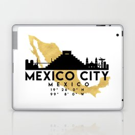 MEXICO CITY MEXICO SILHOUETTE SKYLINE MAP ART Laptop & iPad Skin