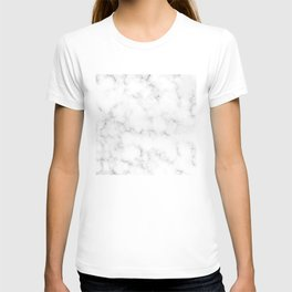 Creamy Marble Pattern With Smoky Veins T-shirt