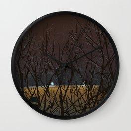 Icy Trees Wall Clock