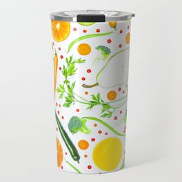 Fruits and vegetables pattern (13) Travel Mug
