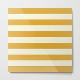 Yellow Stripes Bold Metal Print