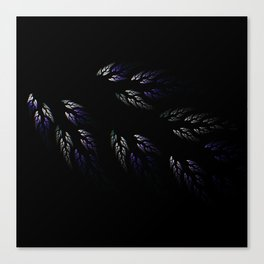 Feathers in Winter Purple Canvas Print