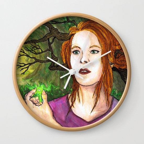 """Through the Woods"" by Cap Blackard Wall Clock"