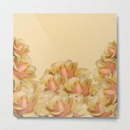 Peach Rose Delight Metal Print