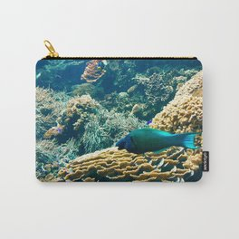 Coral Blue Carry-All Pouch