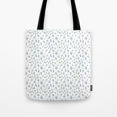 blue lily subtle pattern Tote Bag