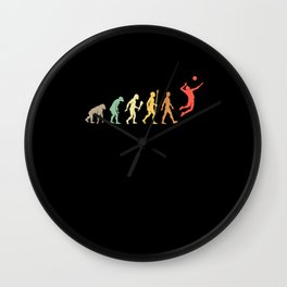 Vintage Volleyball Evolution Player Gift Idea Wall Clock