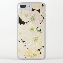 Midnight Blossoms Clear iPhone Case
