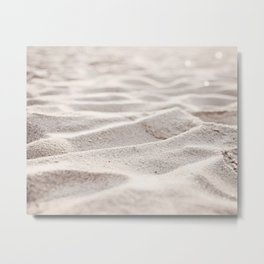 "Sand Photography, Beach Photograph, Coastal Photo, ""Sandy Shore"" Metal Print"
