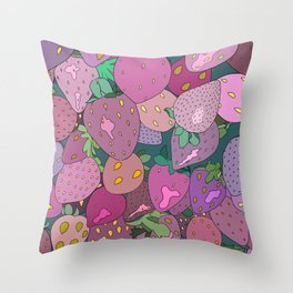 We Dream in Strawberries Throw Pillow