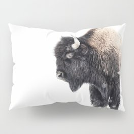 Bison Standing in a Snowstorm Pillow Sham