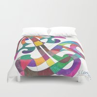 inspiration Duvet Covers featuring Inspiration by SaraLaMotheArt