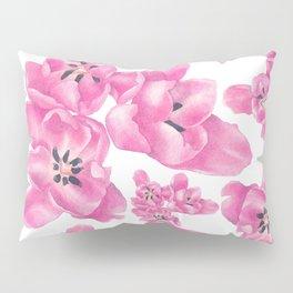 Spring pink poppies Pillow Sham