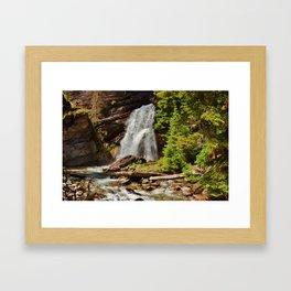 Serene Waterfall Framed Art Print