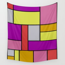 Mondrian #6 Wall Tapestry