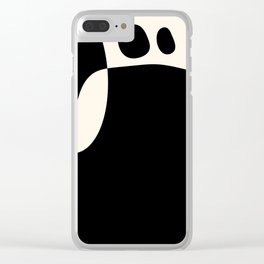 shapes black white minimal abstract art Clear iPhone Case