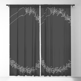 Simple antler wreath 04 Blackout Curtain