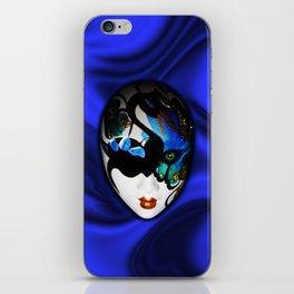 Blue Velvet Venice Mask  iPhone Skin