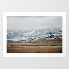 Snow Dusting Jackson Hole Art Print