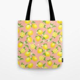 You're the Zest - Lemons on Pink Tote Bag