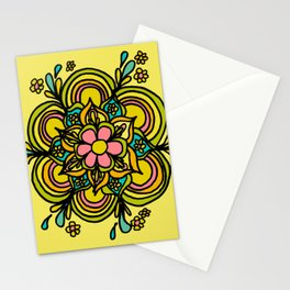 Flower Power Mandala Positive Vibes Flow Freely Stationery Cards
