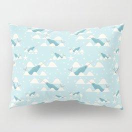 narwhal in ocean Pillow Sham