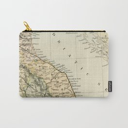 Retro & Vintage Map of Northern Italy Carry-All Pouch