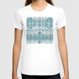 Tribal Lines and White Leaves T-shirt