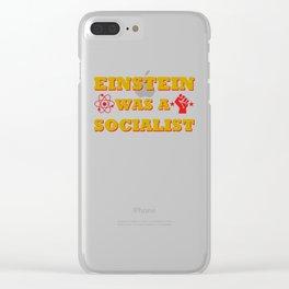 Einstein was a Socialist Clear iPhone Case