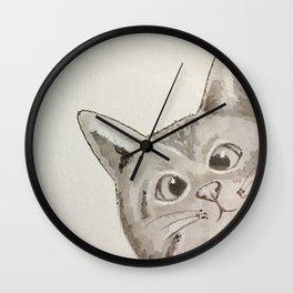 Cross-eyed cat Wall Clock