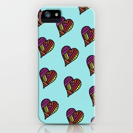 hearts iPhone Case