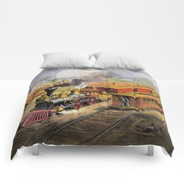 American Railroad Scene (Currier & Ives) Comforters