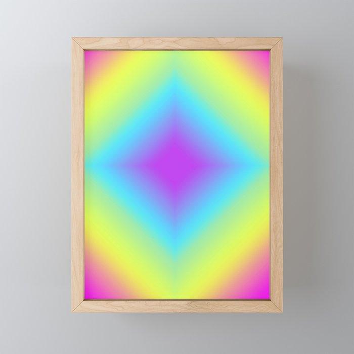 Diamond Rainbow Gradient Framed Mini Art Print