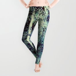 Dream Forest Teal Blue Green Leggings