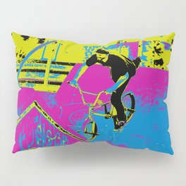"""""""Hitting the Ramp"""" - BMX Biker Pillow Sham"""
