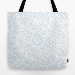 Minimal Minimalistic Light Cool Gray Mandala Tote Bag