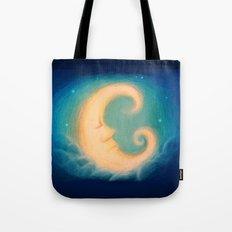 Sleepy Moon Tote Bag