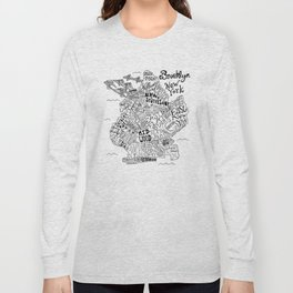 Brooklyn Map Long Sleeve T-shirt