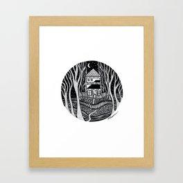 ONE FALL NIGHT Framed Art Print