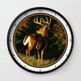 Whitetail Deer Trophy Buck Wall Clock
