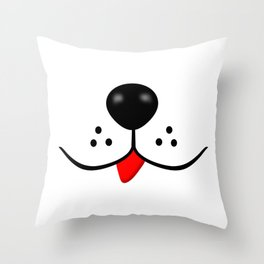 Dog Nose and Mouth Throw Pillow