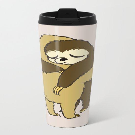 Sloth Hugs Metal Travel Mug