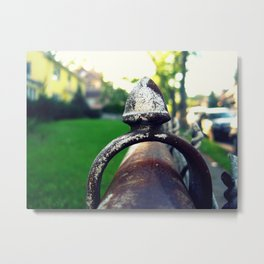 Iron Finial Metal Print