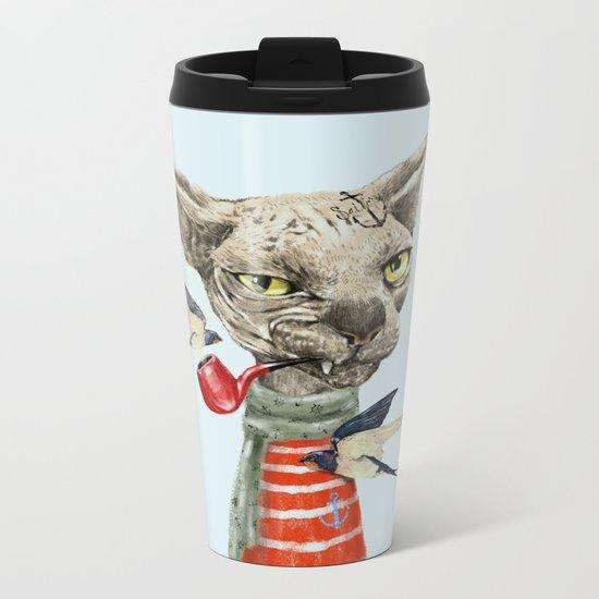 Sphynx cat Metal Travel Mug